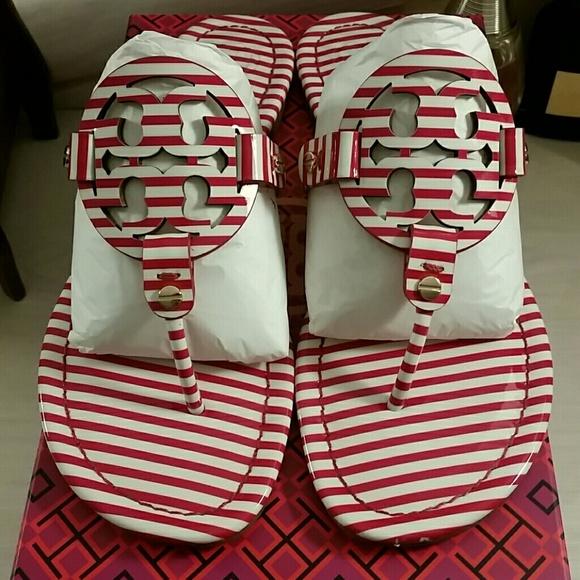 2b5dbdf0dd4c Tory Burch Miller Sandals in Nautical Stripes. M 5b5a6f72c61777cf65c2c5c1